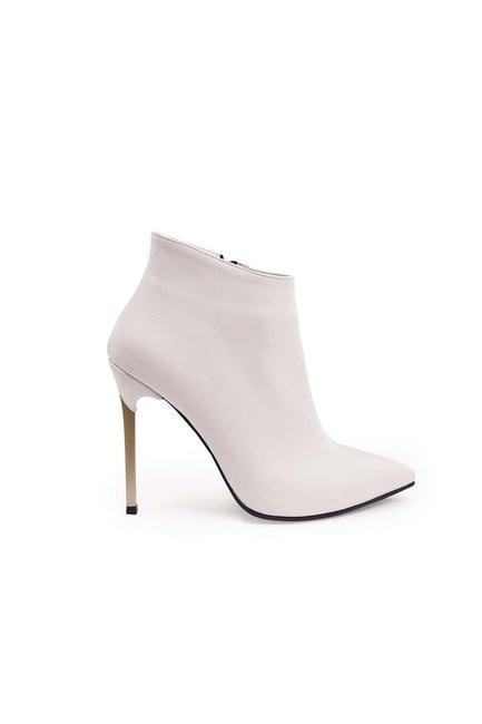 Mizalle - حذاء بكعب مدبب (أبيض) (1)