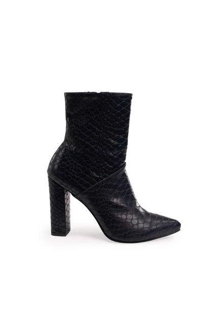 Mizalle - أحذية نمط التمساح (الأزرق الداكن) (1)
