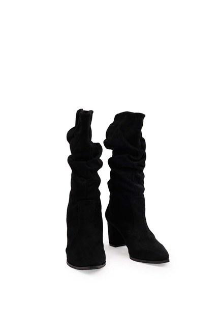 Süet Çizme (Siyah) - Thumbnail