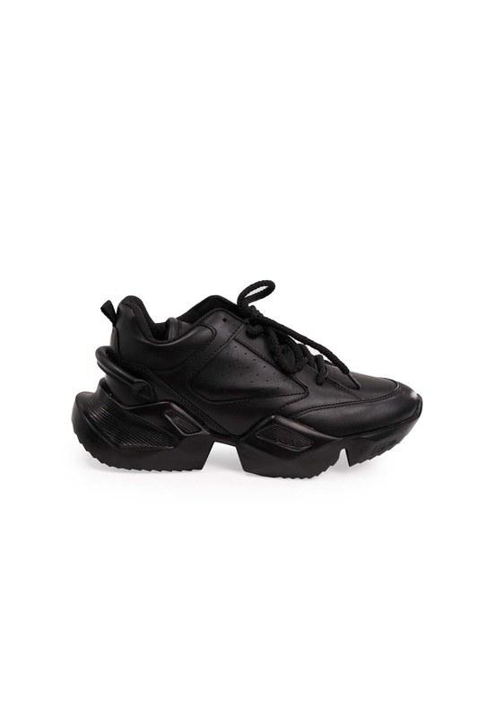 Yüksek Taban Spor Ayakkabı (Siyah)