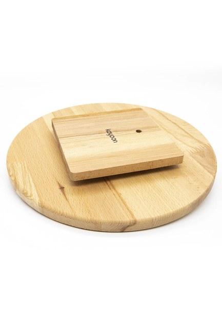 Mizalle Home - Dönen Bambu Sunum Tahtası (29x29) (1)