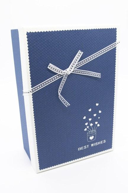 Mizalle Home - صندوق مستطيل أزرق داكن (23 × 16) (1)