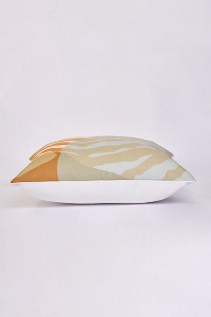 Mizalle Home - غطاء وسادة منقوشة 45x45 (حمار وحشي) (1)