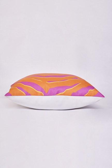Mizalle Home - غطاء وسادة منقوشة 45x45 (برتقالي) (1)