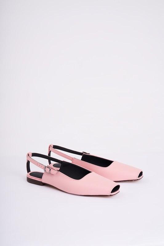 Burnu Açık Ayakkabı (Pembe)