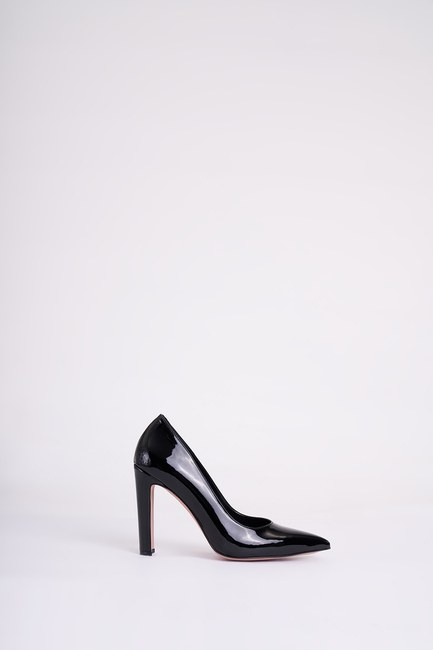 Mizalle - حذاء بكعب عالي سميك ( أسود ) (1)