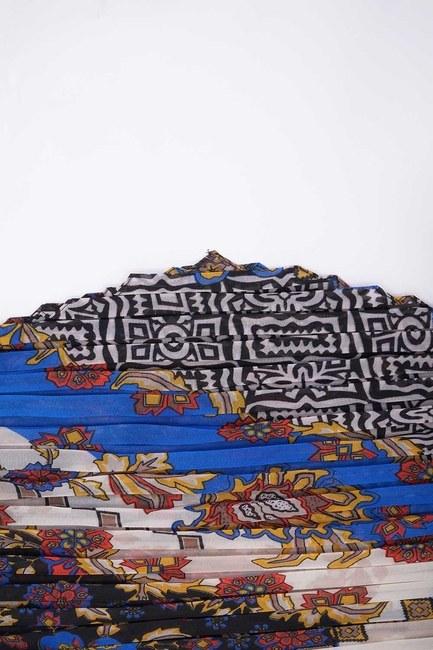 Patch Desenli Kare Fular (Siyah) - Thumbnail