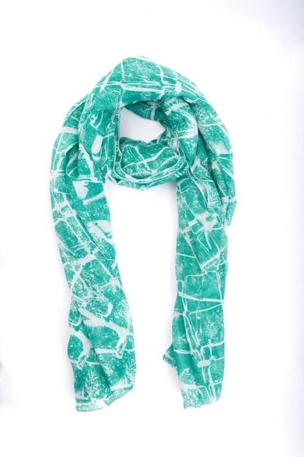 Mizalle - شال بتصميم هندسي (أخضر) (1)