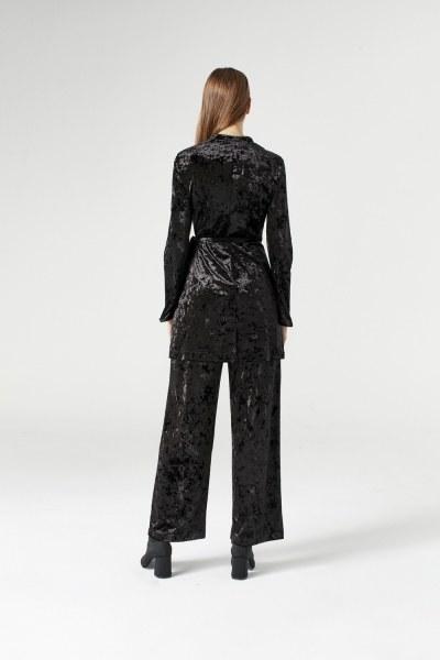 Velvet Kimono (Black) - Thumbnail
