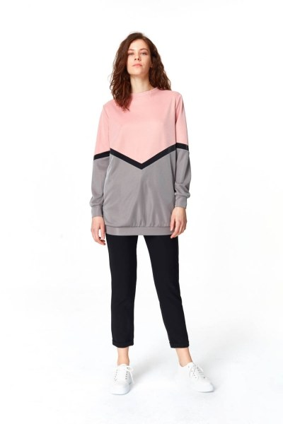 Renk Geçişli Sweatshirt - Thumbnail