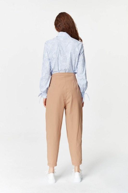 Asymmetric Detailed Trousers (Camel)