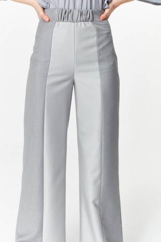 Elastik Bel Detaylı Pantolon (Gri)
