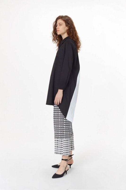 Sırtı Garnili Tunik Gömlek (Siyah)