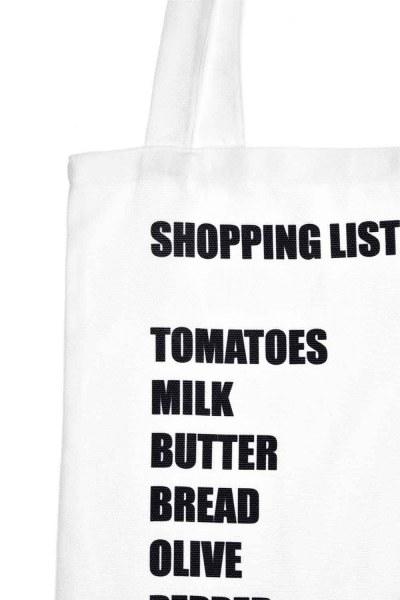 Mizalle - Baskılı Bez Çanta (Liste) (1)