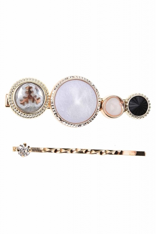 Stone Detailed Hair Clips (St)