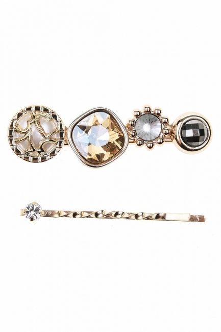 Mizalle Stone Detailed Hair Clips (Cream)