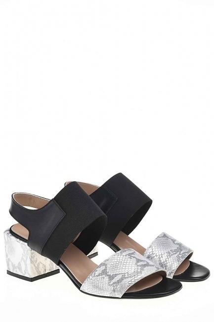 Yılan Desenli Ayakkabı (Gri) - Thumbnail