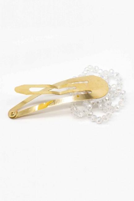 Mizalle - Çiçek Çıtçıt Toka (Beyaz) (1)