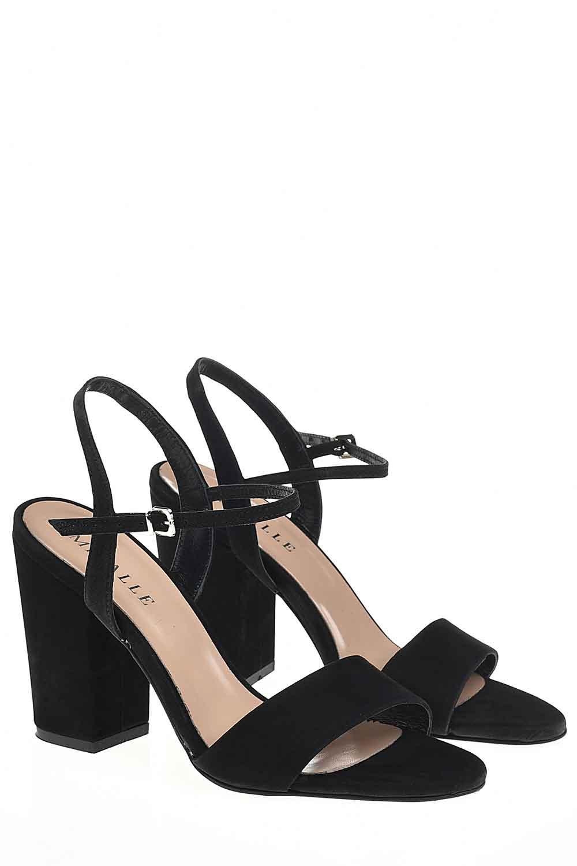 Açık Burun Tokalı Ayakkabı (Siyah)