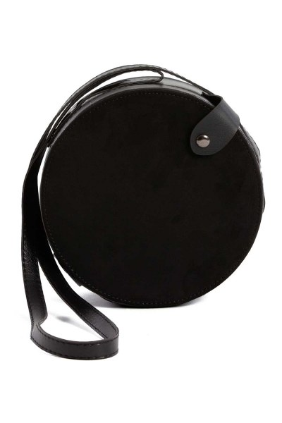 MIZALLE - Round Shoulder Bag (Black) (1)