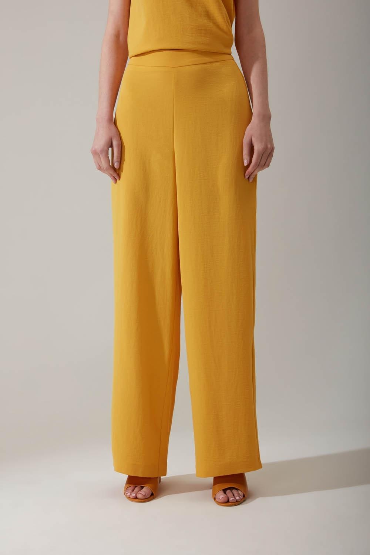 Bol Paçalı Sarı Pantolon
