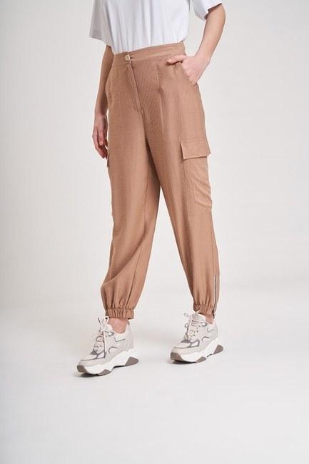MIZALLE YOUTH - Aerobin Cargo Trousers (Beige) (1)