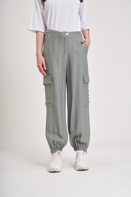 MIZALLE YOUTH - Aerobin Cargo Trousers (Green) (1)