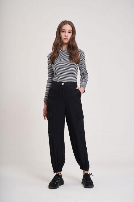 Mizalle - Aerobin Kargo Pantolon (Siyah)