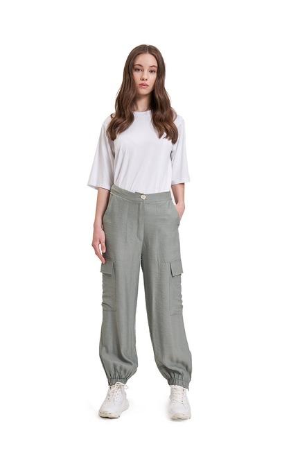 Mizalle - Aerobin Kargo Pantolon (Su Yeşili)