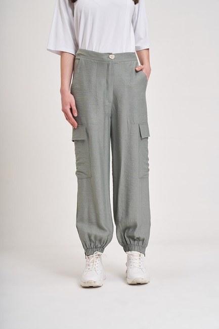 MIZALLE YOUTH - Aerobin Kargo Pantolon (Su Yeşili) (1)