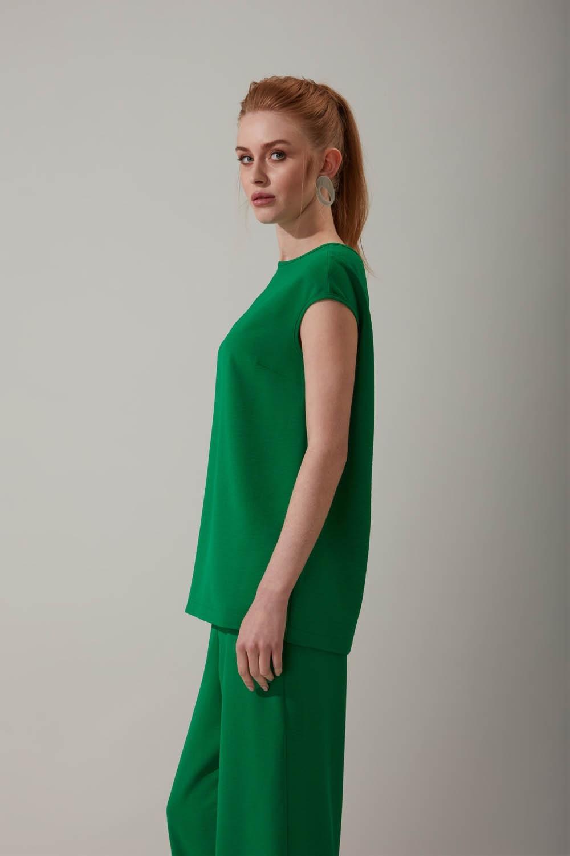 Kolsuz Yeşil Bluz