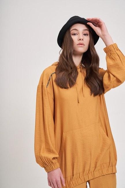 MIZALLE YOUTH - Aerobin Striped Sweatshirt (Saffron) (1)