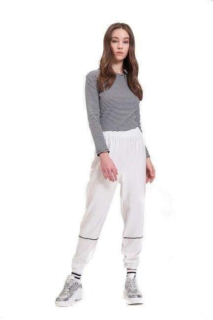 Mizalle - Aerobin Taş Şeritli Pantolon (Ekru)