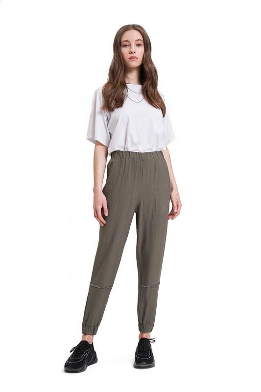 Aerobin Taş Şeritli Pantolon (Haki)