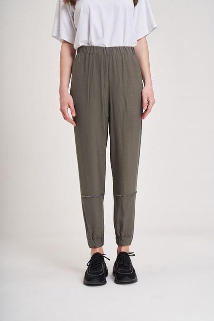 Aerobin Taş Şeritli Pantolon (Haki) - Thumbnail