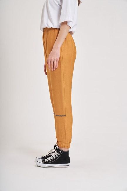 Aerobin Taş Şeritli Pantolon (Safran) - Thumbnail