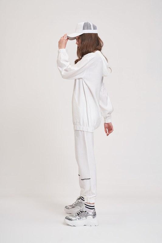 Aerobin Taş Şeritli Sweatshirt (Ekru)