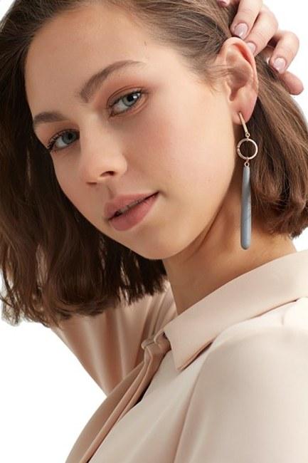 MIZALLE Wooden Pendant Earrings (Grey)