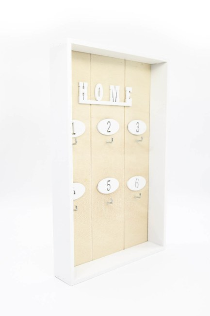 MIZALLE HOME - Design Wooden Keychain (Cream) (1)