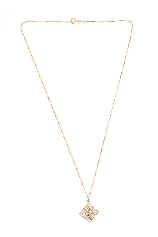 MIZALLE Islamic Steel Necklace (St) (1)