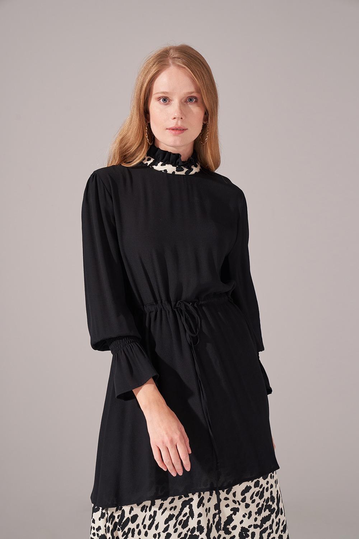Alt Etek Parçalı Elbise (Ekru)