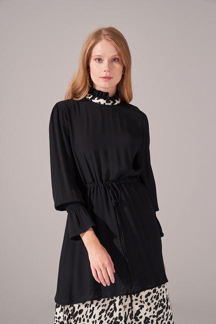 Alt Etek Parçalı Elbise (Ekru) - Thumbnail