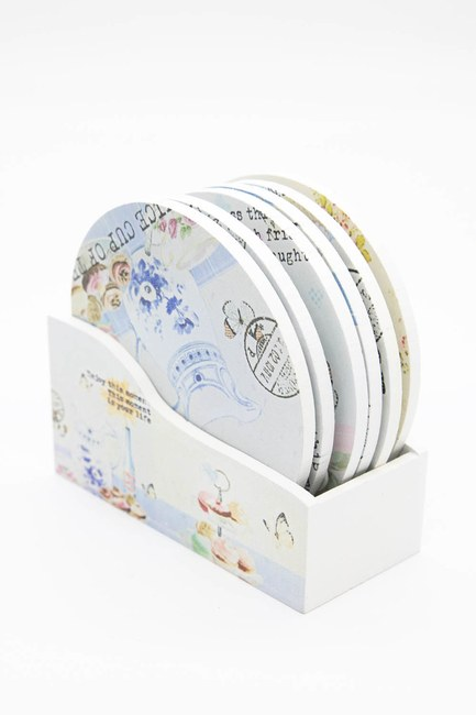 MIZALLE HOME - Round Coasters (White) (1)