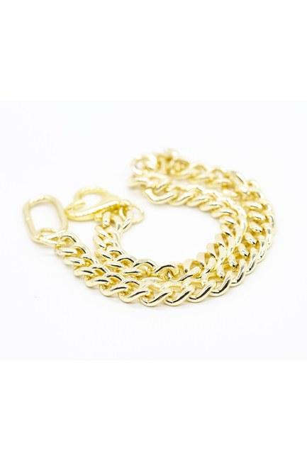 Altın Kaplama Kalın Zincir Kolye - Thumbnail