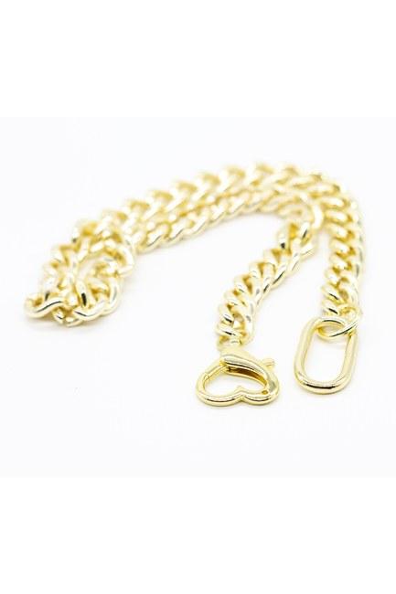 MIZALLE - سلسلة قلادة سميكة ، مطلية بالذهب (1)