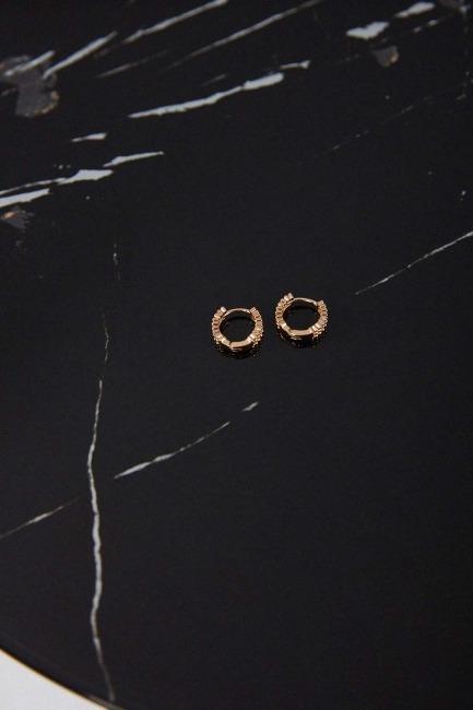 Altın Kaplama Küpe - Thumbnail