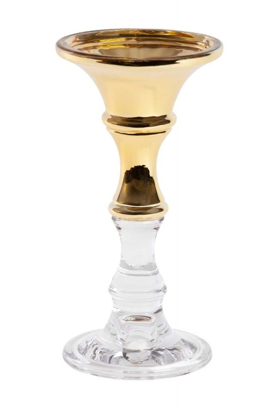 Crystal Candlestick Golden Details (Small)