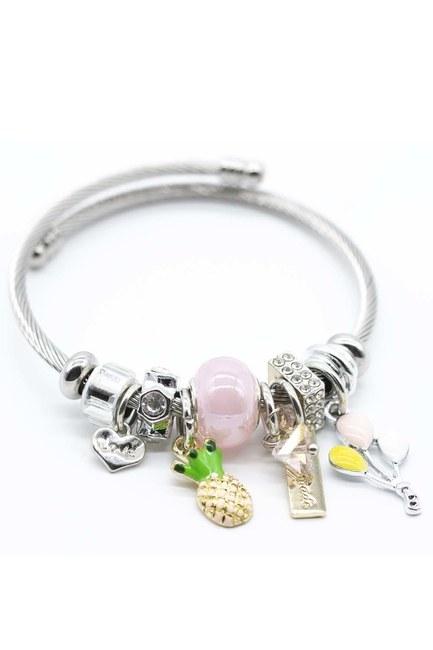 MIZALLE Pineapple Bracelet (Pink)