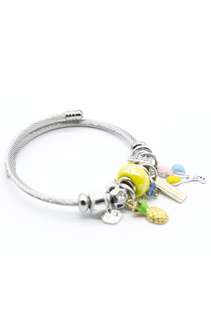MIZALLE - Pineapple Bracelet (Yellow) (1)