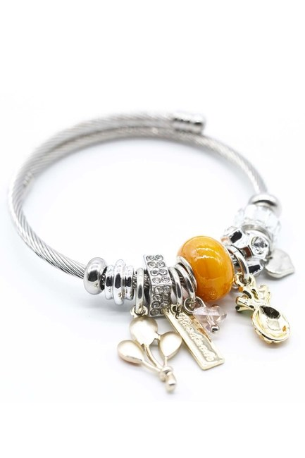 MIZALLE Pineapple Bracelet (Orange)
